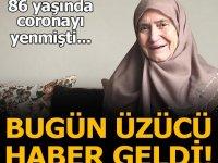 Koronavirüsü yenen yaşlı kadın