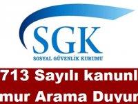 Sosyal Güvenlik Kurumu 3713 Sayılı kanunla Memur Kariyer Atama Duyurusu