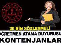 Milli Eğitim Bakanlığı, 20 bin sözleşmeli öğretmen atama duyurusunu yayımladı
