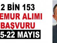 2 Bin 153 memur alımı başvuruları 15-22 Mayıs 2020