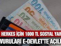 1000 TL Sosyal Yardım e-Devlet Başvuruları
