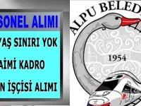 Alpu Belediye Başkanlığı İŞKUR'da yayımlanan iş ilanı Mayıs 2020
