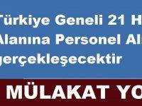 Türkiye Geneli 21 Hava Alanına Personel Alımı gerçekleşecektir. Başvurular internetten