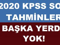 KPSS 2020 Soru Tahminleri