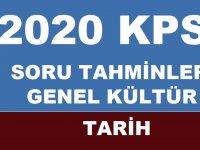 KPSS 2020 TARİH SORU TAHMİNLERİ