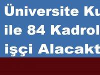 Üniversite Kura ile 84 Kadrolu işçi Alacaktır. işte ilan metni