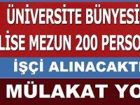 İŞKUR Üzerinden Cumhuriyet Üniversitesi 200 Daimi işçi Alacaktır. işte kadrolar