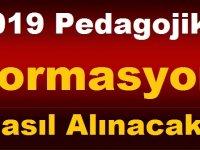 2019 Pedagojik Formasyon Nasıl Alınacak?