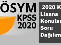 2020 KPSS Lisans Konuları ve Soru Dağılımı Nedir?