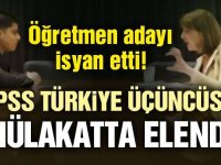 Türkiye 3. olup mülakatta elenen öğretmenden flaş sözler