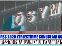 9 Haziran 2020 KPSS-2020/7 Sonuçları