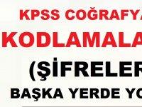 KPSS Coğrafya Kodlamalar - Şifrelemeler