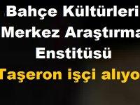 Atatürk Bahçe Kültürleri Merkez Araştırma Enstitüsü Taşeron işçi kamudan kariyer ilanı