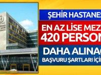 Tekirdağ Şehir Hastanesi bünyesine en az ortaöğretim (lise ve dengi) mezunlarından personel alımı