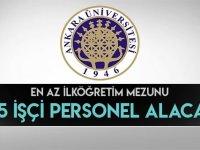 Daimi 4/D Sürekli Ankara Üniversitesi 315 İşçi Alımı Yapacaktır
