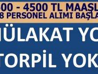 Kamuya 3500-4500 TL Maaşla Mülakatsız 1198 Personel Alımı yapıyor