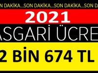 2021 Asgari Ücret Net 2 Bin 674 TL olacak