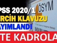 KPSS-2020/1: Tercih Kılavuzu Yayınlanmıştır