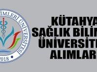Kütahya Sağlık Bilimleri Üniversitesi Personel Alımı Yapacaktır