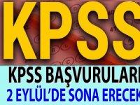 KPSS başvuruları 2 Eylül saat 23:59 da sona erecek
