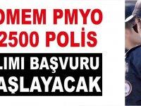 12500 polis alımı başvuruları başlıyor