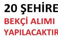 İŞKUR'un ''Açık İş İlanları' Eylül Ayı 20 Şehirde Bekçi iş ilanları