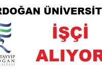 Erdoğan Üniversitesi kadrolu 43 İşçi Alacaktır