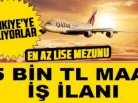Katar Hava Yolları 15 Bin TL Maaşla Kabin Görevlisi kariyer İlanı
