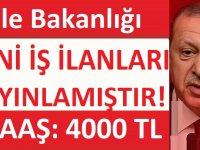 KPSS 60 Puanla Aile Bakanlığı Memur Alacaktır