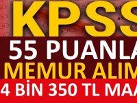 Kamuya Yeni KPSS 55 Puanla Kamu Personeli Alımları