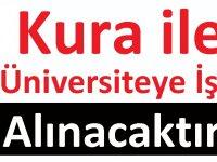 Korkut Ata Üniversitesi kura ile işçi alımı yapacaktır.