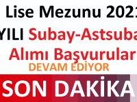 Lise Mezunu 2021 YILI Subay-Astsubay Alımı Başvuruları