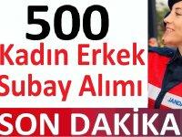 Jandarma 500 Kadın Erkek Subay Alacaktır!