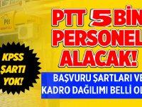 PTT'ye alınacak 4 Bin 800 Personel iş ilanı