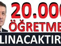 20 bin yeni öğretmen alınacak SON DAKİKA