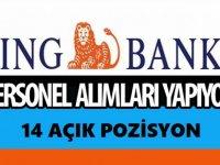 İNG Bank Mart 2021 çok sayıda personel alımı yapacaktır!