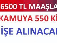 550 muvazzaf ve sözleşmeli subay alımı yapacak.