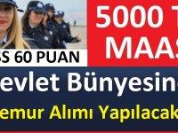 Devlet Bünyesine KPSS 60 Puan ile 13 Memur Alımı yapılacaktır