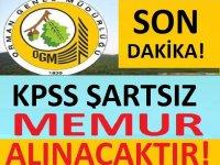 Tarım ve Orman Bakanlığı, Personel Alacaktır