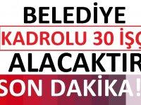 Bursa Kestel Belediyesi 30 işçi alacak. Son başvuru tarihi 8 Mart