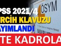 KPSS 2021/4 tercih kılavuzu ÖSYM'de yayımlandı.