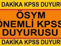 2019 KPSS Hakkında Yeni Gelişme