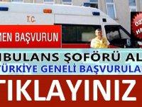 İstanbul büyükşehir belediyesi kuruluşu İSPER ambulans şoförü alımı yapacaktır.