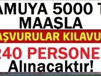 Büyükşehir Belediyesi kadın/erkek toplamda 240 Şoför alımı yapılacaktır