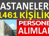 Türkiye Geneli Hastanelere 1461 Personel Alınacaktır