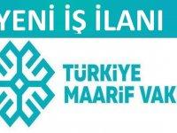 Türkiye Maarif Vakfı Mali İşler Sorumlusu alacaktır
