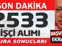 MSB 2 bin 533 işçi alımı için kura sonuçları açıklandı