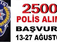 Polis Meslek Yüksek Okulu 2500 Polis alımı YAPILACAKTIR