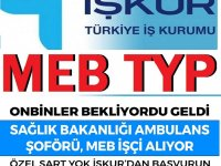 MEB TYP Temizlik işçisi, Sağlık Bakanlığı Ambulans Şoförü Alıyor