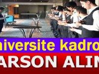 Sakarya Üniversitesi Rektörlüğü 70 garson alımı yapacak.